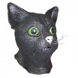 Black Cat Head Mask- Adult Size