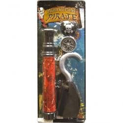 Deluxe Carded Pirate Play Set w/ Telescope, Hook and More