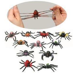 Mini Stretch Spiders- 2 Inch Size w/Stretchy Legs