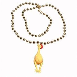 Chicken Bead Necklace- 33 Inch- Each on Header Card