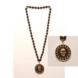 Pirate Medallion Coin Necklace- 33 Inch- Each on Header Card