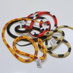 Medium Rubber Snake- 36 Inch- 4 Asst Colors- 24 Piece Dsp Box