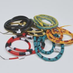 Large Rubber Grass Snake- 55 Inch- 6 Asst Colors- 12 Piece Dsp Box