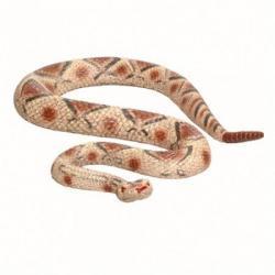 Jumbo Rubber Rattlesnake- 44 Inch- 8 Asst Colors- 3 Per Box