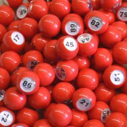Raffle Balls 1-100 Number Set 20MM