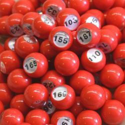 Raffle Balls 101-200 Number Set 20MM