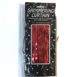 Curtain-Red  Shimmering 8Ftx3Ft