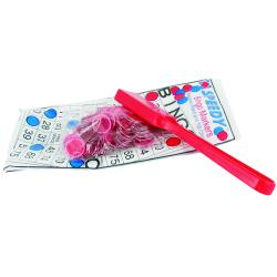 Red Magnetic Bingo Kit- 1 Wand and 100 Chips