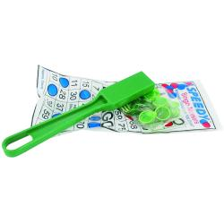 Green Magnetic Bingo Kit- 1 Wand and 100 Chips