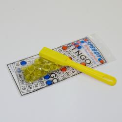 Yellow Magnetic Bingo Kit- 1 Wand and 100 Chips