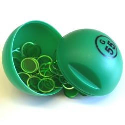 Green  Bingo Ball Magnet-W/100 Chip