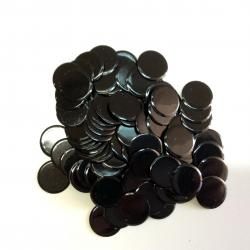 Solid Black Plastic Chips- 100 Ct Bag