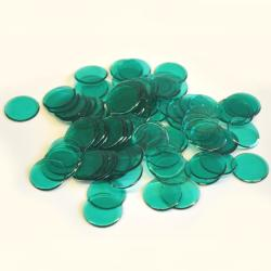 Green  Plastic Chips- 100 Ct Bag