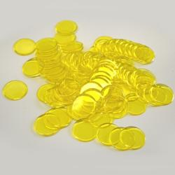 Yellow Plastic Chips- 100 Ct Bag