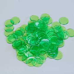 LIGHT Green Plastic Chips- 100 Ct Bag