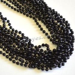Round 7mm Black Bead 33In