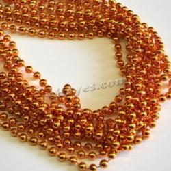 Round 7Mm Orange Bead 33 Inch