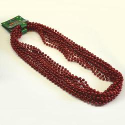 Round 7mm Red Bead 33In