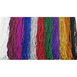 Round 7mm Blue   Bead 33 Inch