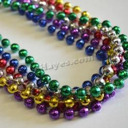 Mirror Ball Bead- 7mm- 31 Inches- Asst Colors