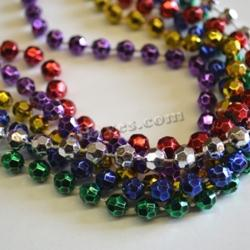 Faceted 7Mm  Asst Color Bead 33 Inch