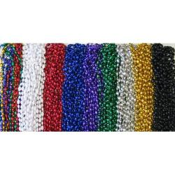 Football Beads- Silver 33 Inch
