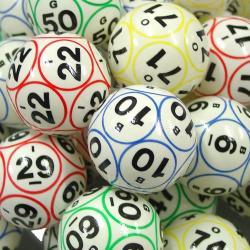 Bingo Ball- 12 Side Print - Easy Read