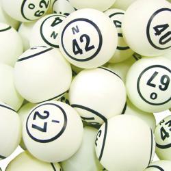 Bingo Ball- White 2 Side Print