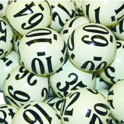 Keno Ball- 6 Side Coated  1-80 Number