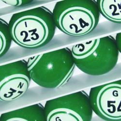 Bingo Ball- Green Double Number Solid