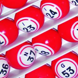 Bingo Ball- Red Double Number Solid