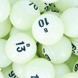 Bingo Ball- White Double Number Solid