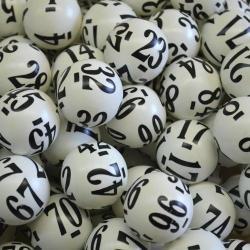 Raffle Balls 1-250 Number Set  38Mm 6 Side Print