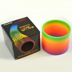 Plastic Rainbow Spring- 3 inch Diameter- Each in Color Box