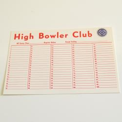 Bowler Cards  Numbered 1-100