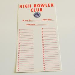 High Bowler Cards Numbered 1-50