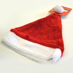 Deluxe Plush Red Santa Hat- Medium Adult Size