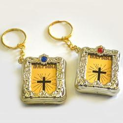 Bible- Miniature W/Key Chain 1 Dozen Card