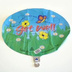 Mylar Balloon- Get Well Butterfly