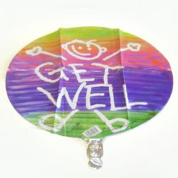 Mylar Balloon- Get Well Stick Person