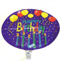 Mylar Balloon- Confetti and Candles