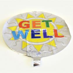 Mylar Balloon- Get Well Graphic Sun