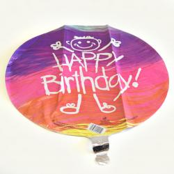 Mylar Balloon- Birthday Stick Person