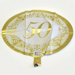 Mylar Balloon- Gold 50Th Anniversary