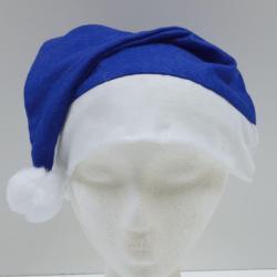 Economy Santa Hat- Blue Felt- Large Adult Size