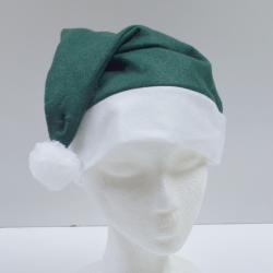 Economy Santa Hat- Green Felt- Large Adult Size