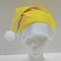 Economy Santa Hat- Yellow Felt- Large Adult Size