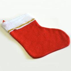 Medium Red Felt Christmas Stocking- 12 Inch w/Loop- No UPC Code