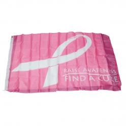 3 X 5 Foot Flag- Pink Breast Cancer Awareness