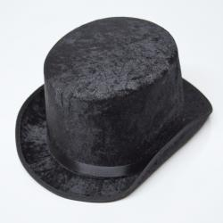 Tall Black Velfelt Top Hat